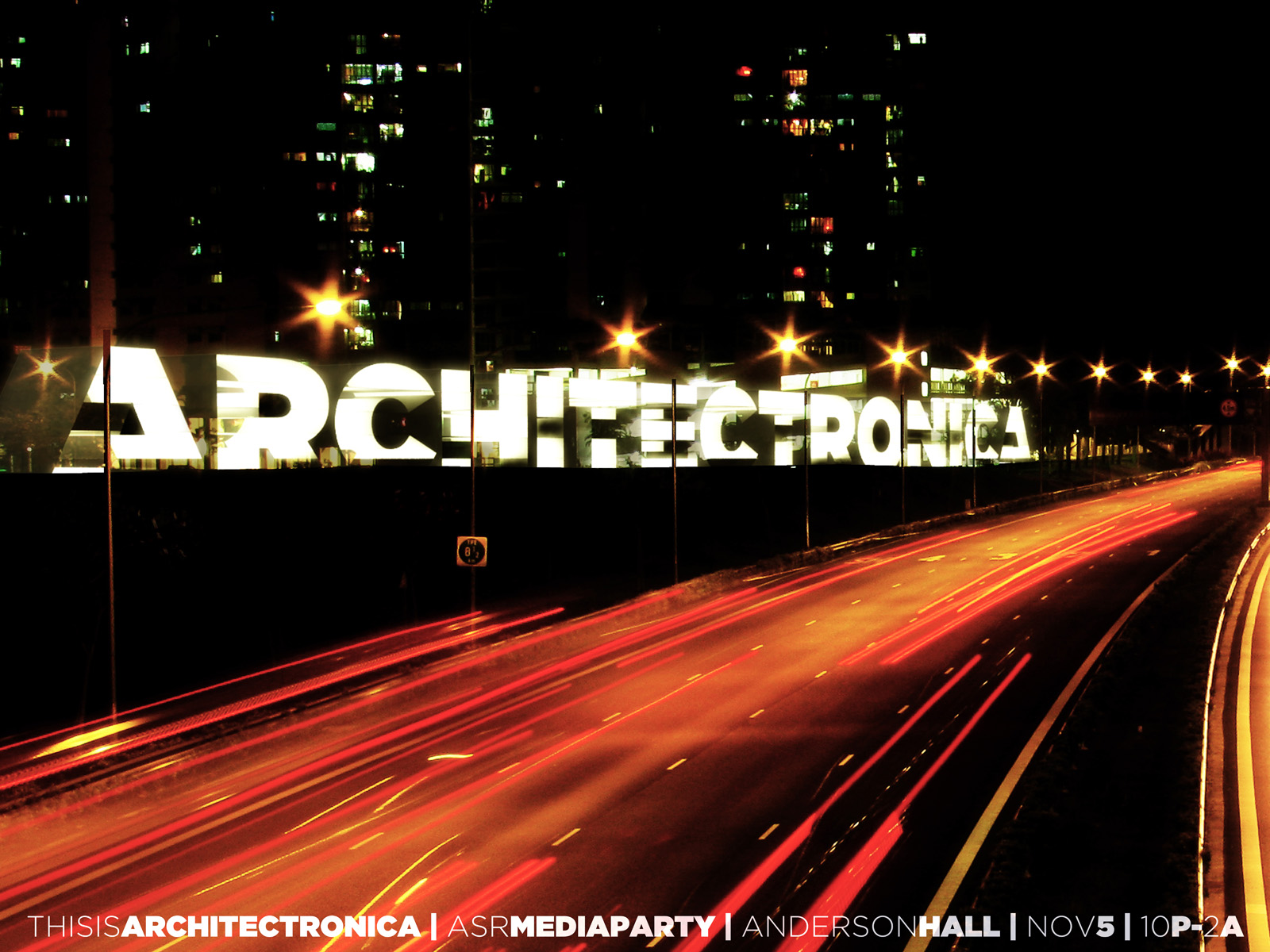 architectronica poster orange road