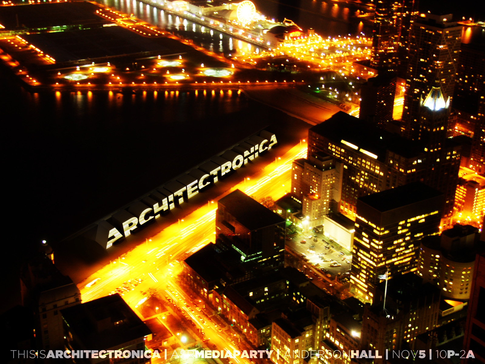 architectronica poster gold road aerial