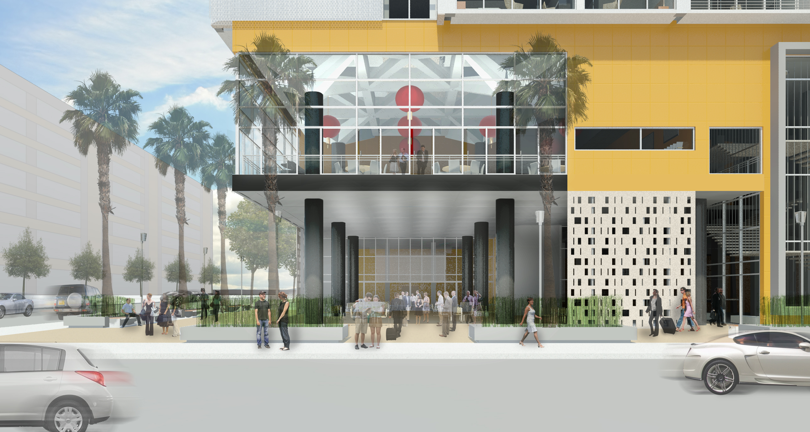 the corner hotel corner render