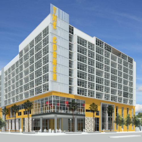 the corner hotel exterior render