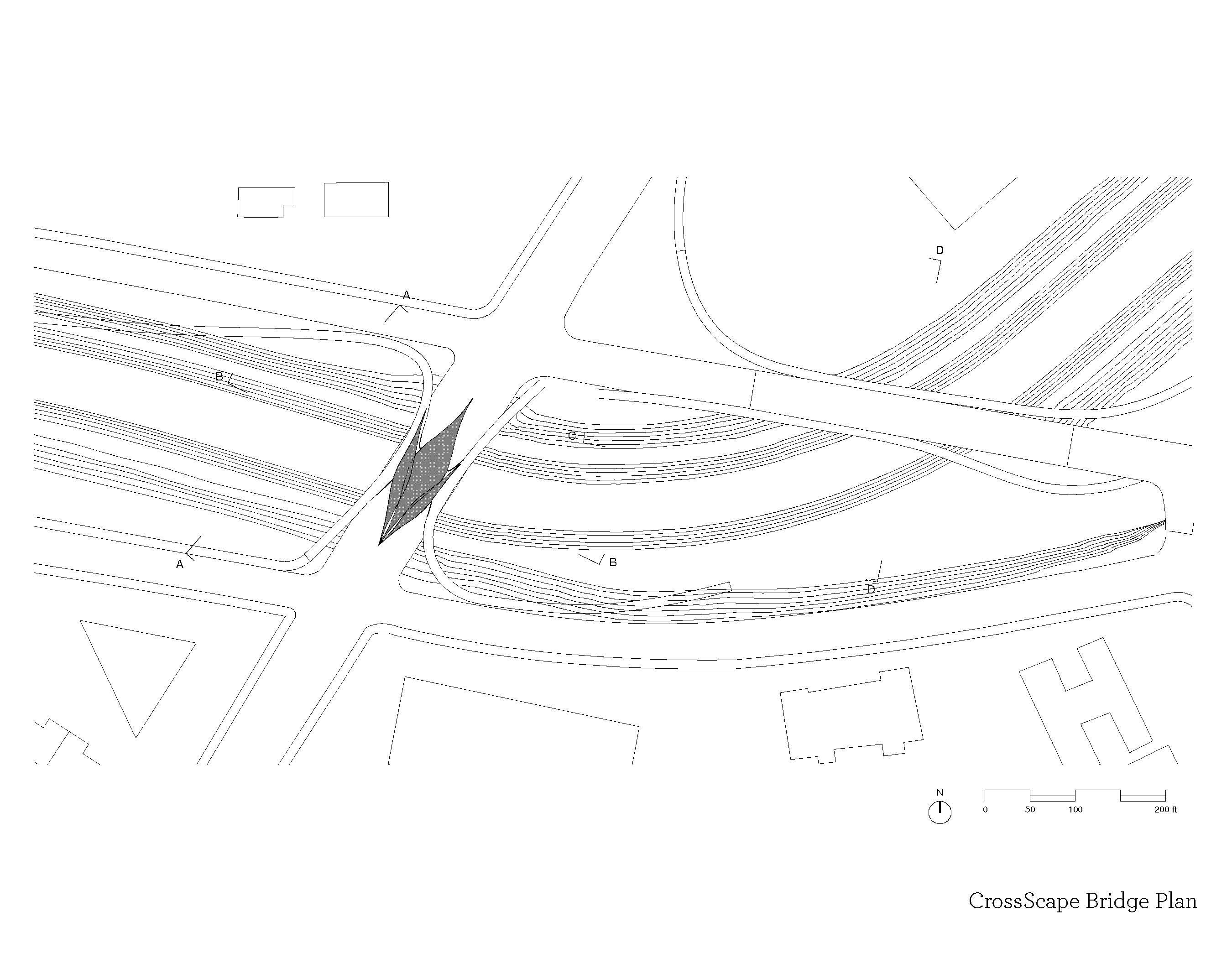cross scape bridge plan