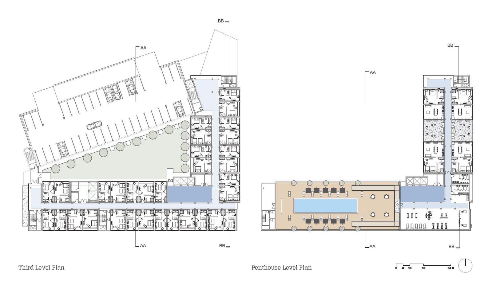 the corner hotel plans