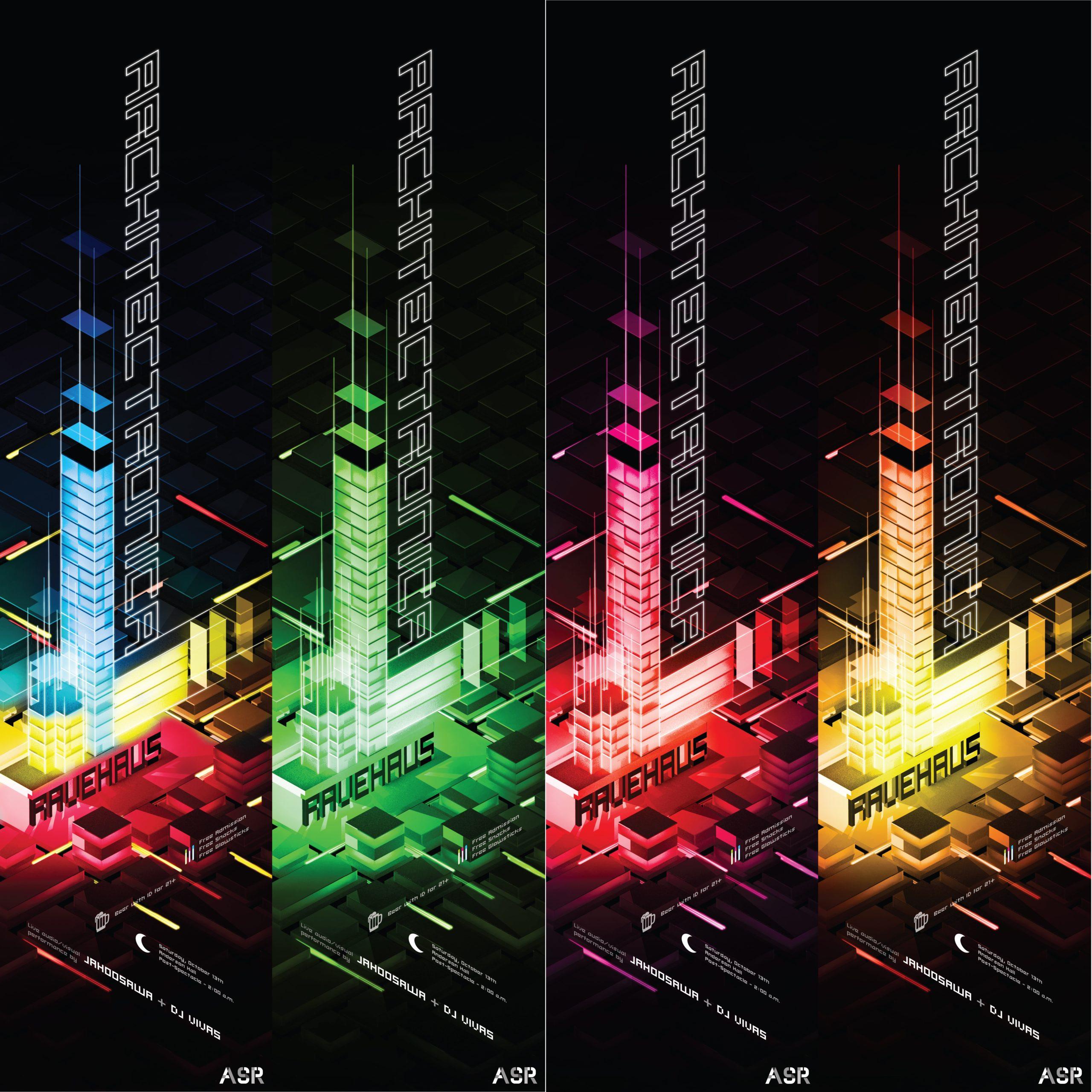 architectronica ravehau5 poster set