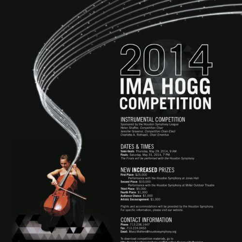 2014 ima hogg competition poster cellist