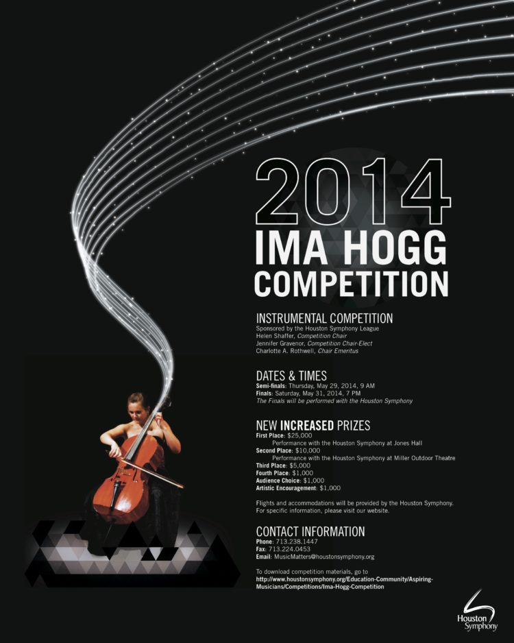 Ima Hogg Competition Poster Design