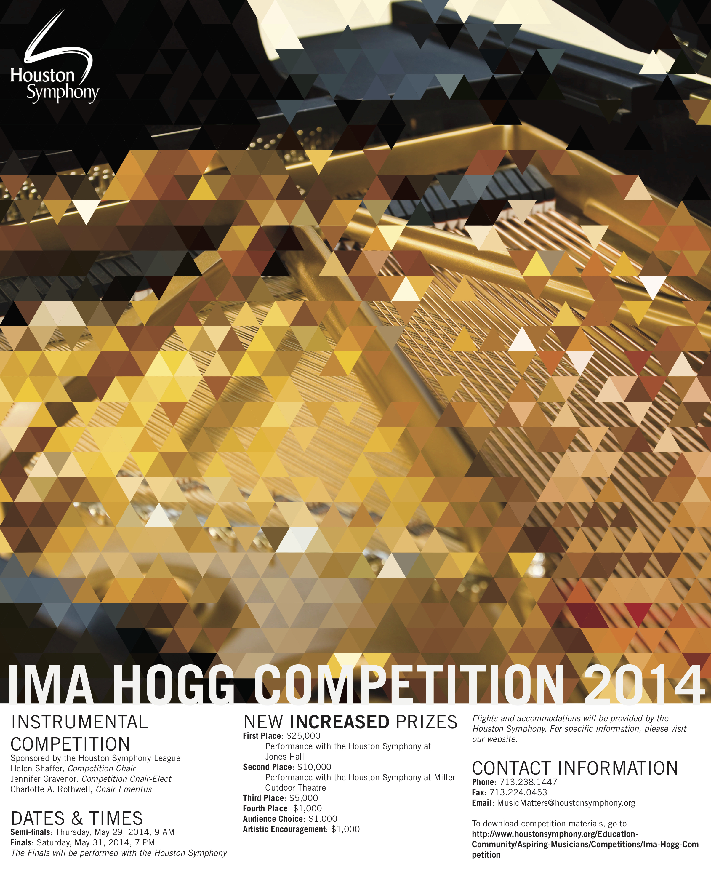 2014 ima hogg competition poster piano