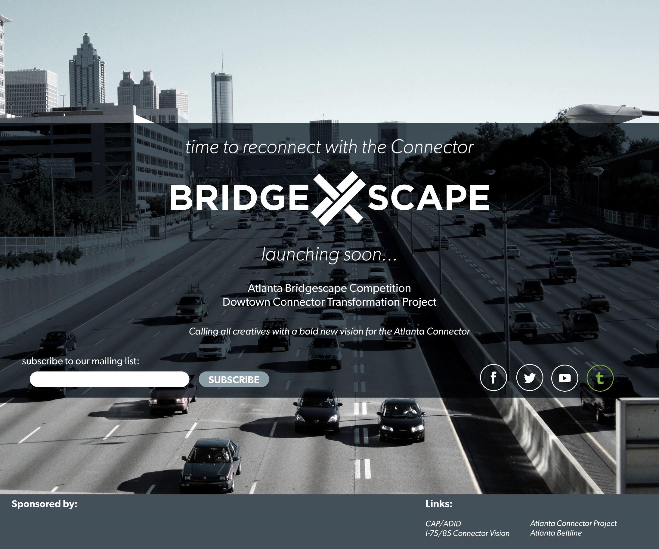 bridgescape landing page mockup