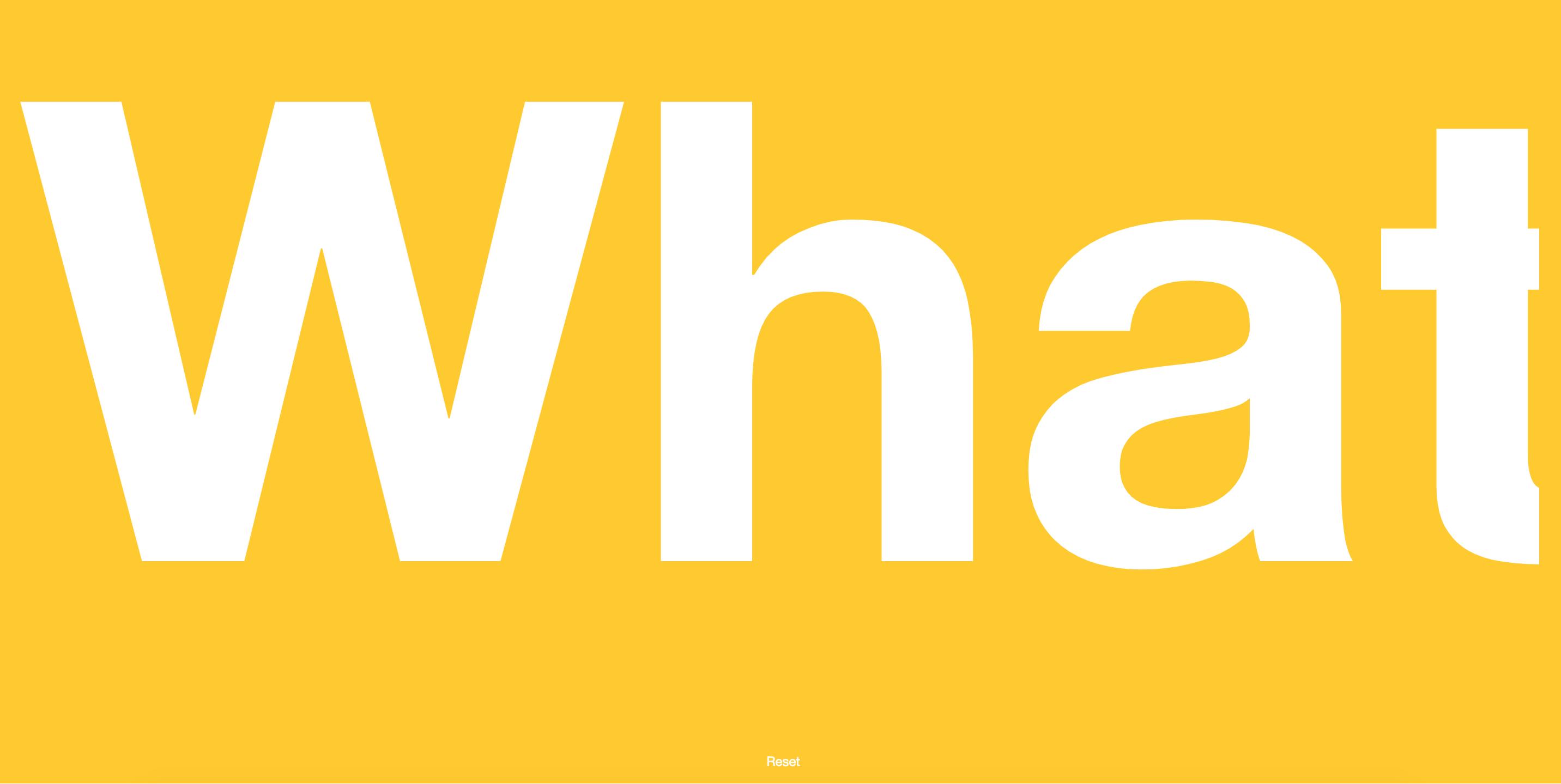 scroll'd app marquee yellow bg
