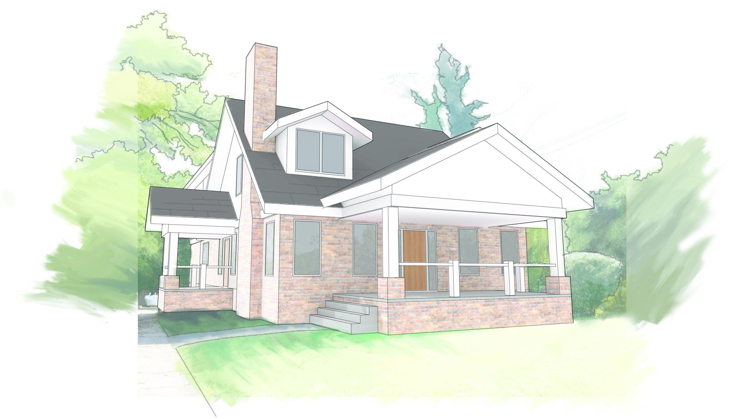 West Benson House Rendering for Lightroom Studio