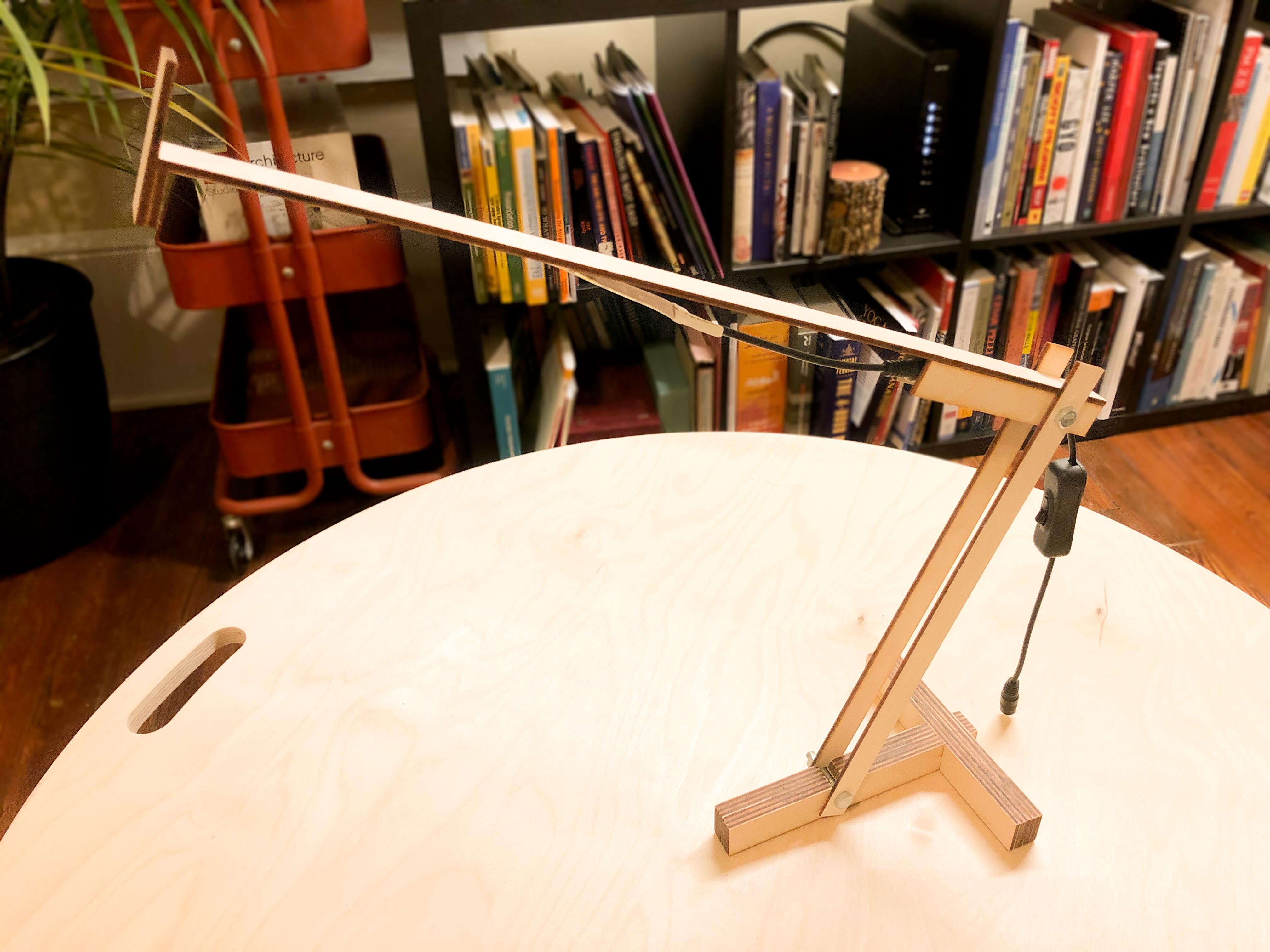 armature lamp prototype