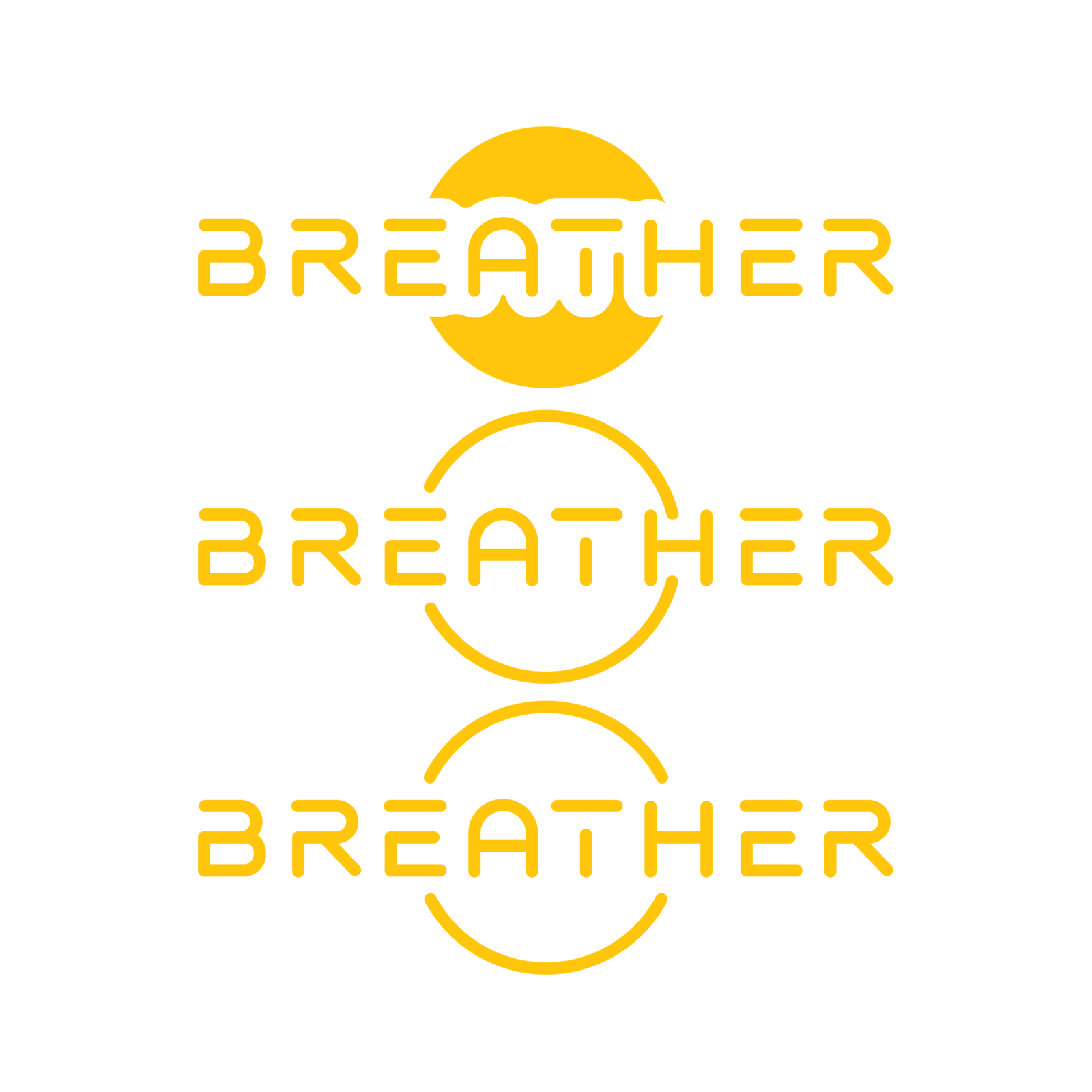 breather website logo treatments