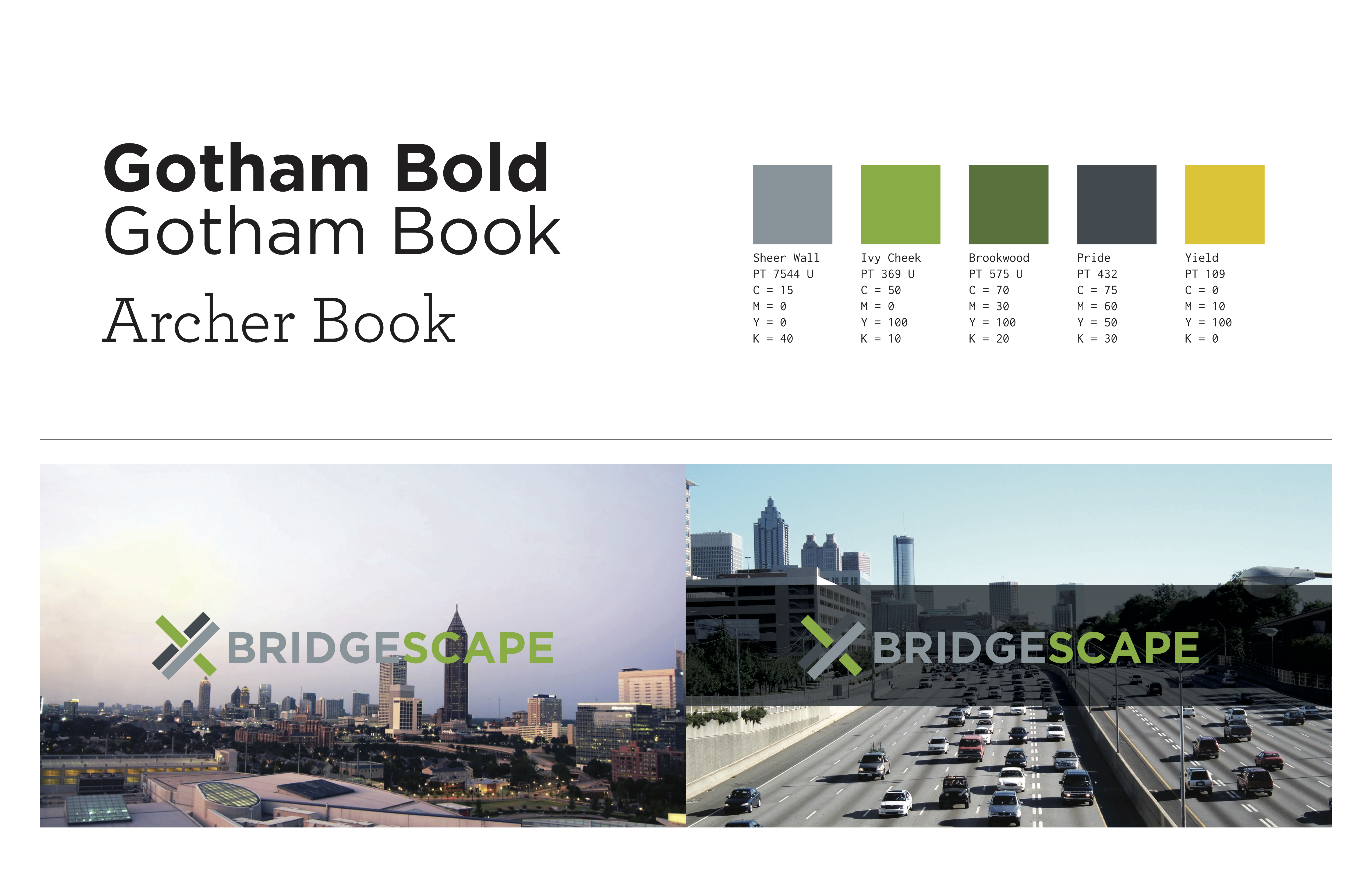bridgescape style guide and branding