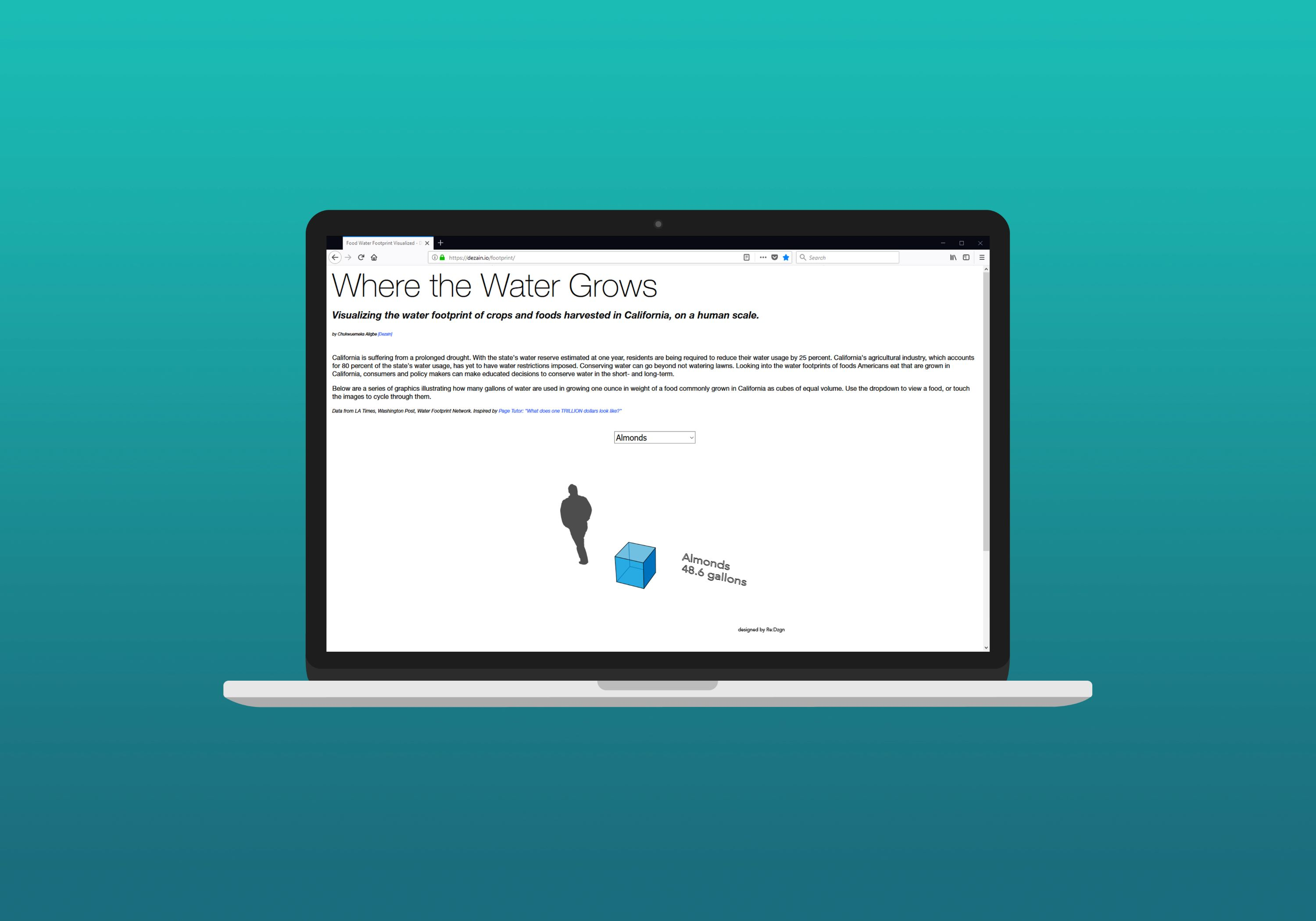 Where the Water Grows Desktop Mockup