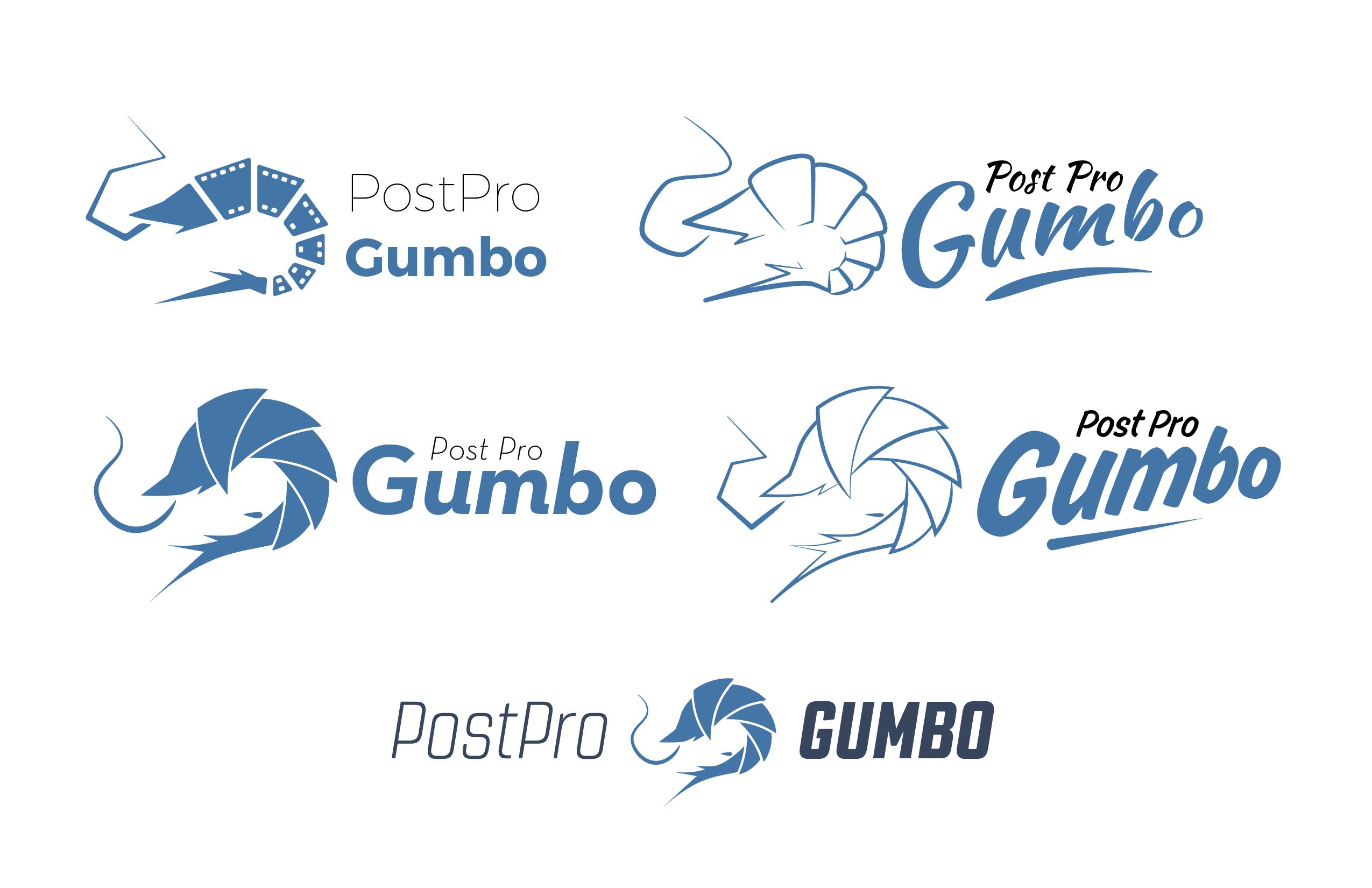 Post Pro Gumbo Logo design