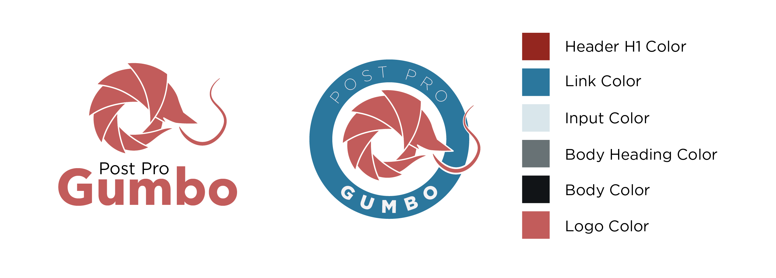 Post Pro Gumbo color and branding
