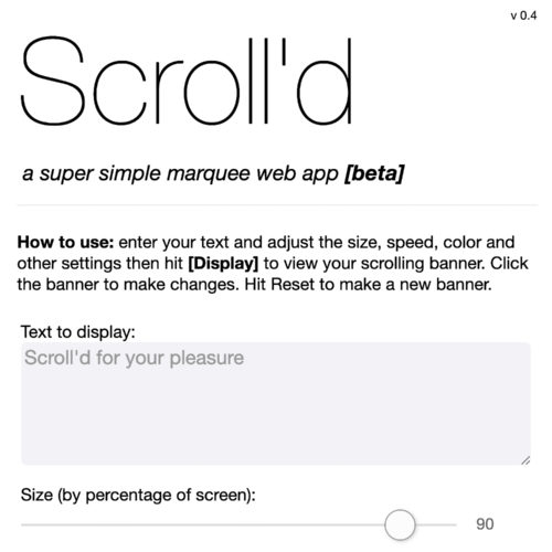 scroll'd web app