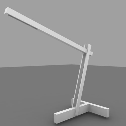 solar armature lamp rendering