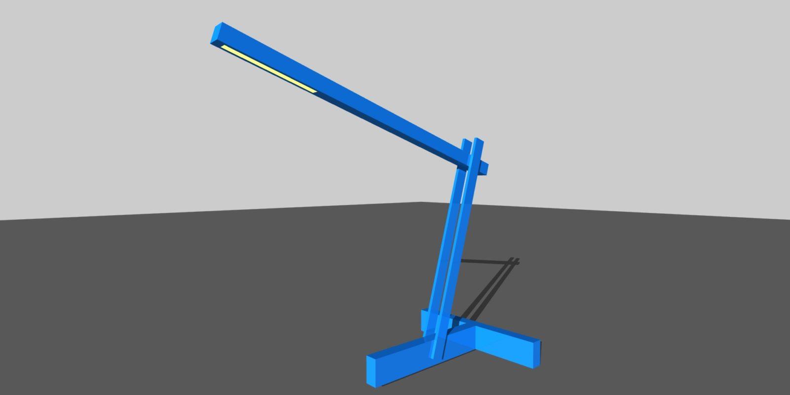 solar armature lamp rendering 2