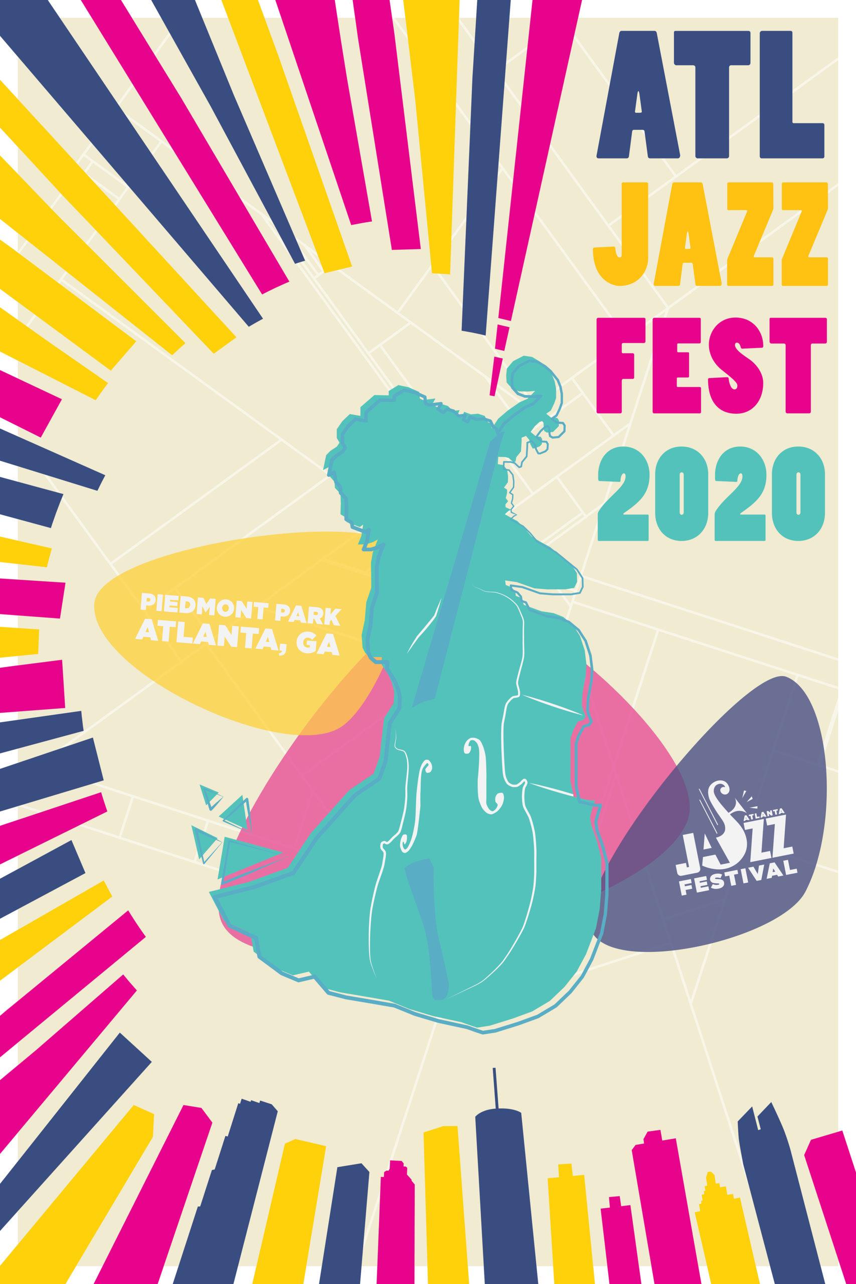 Atlanta Jazz Festival poster design 1