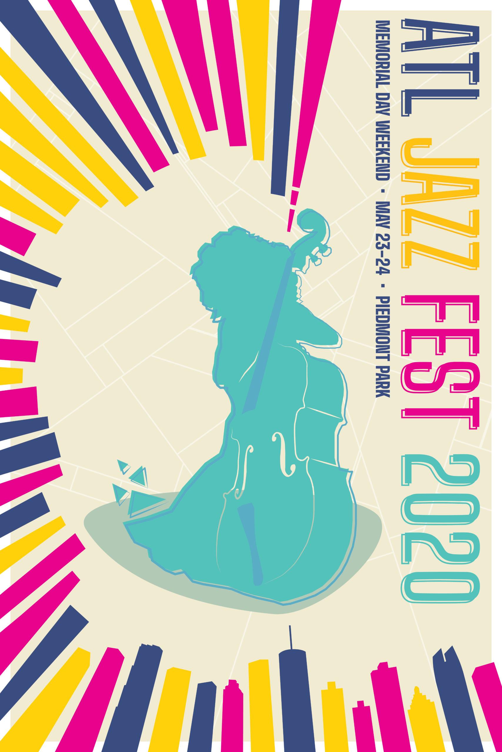 Atlanta Jazz Festival poster design 2