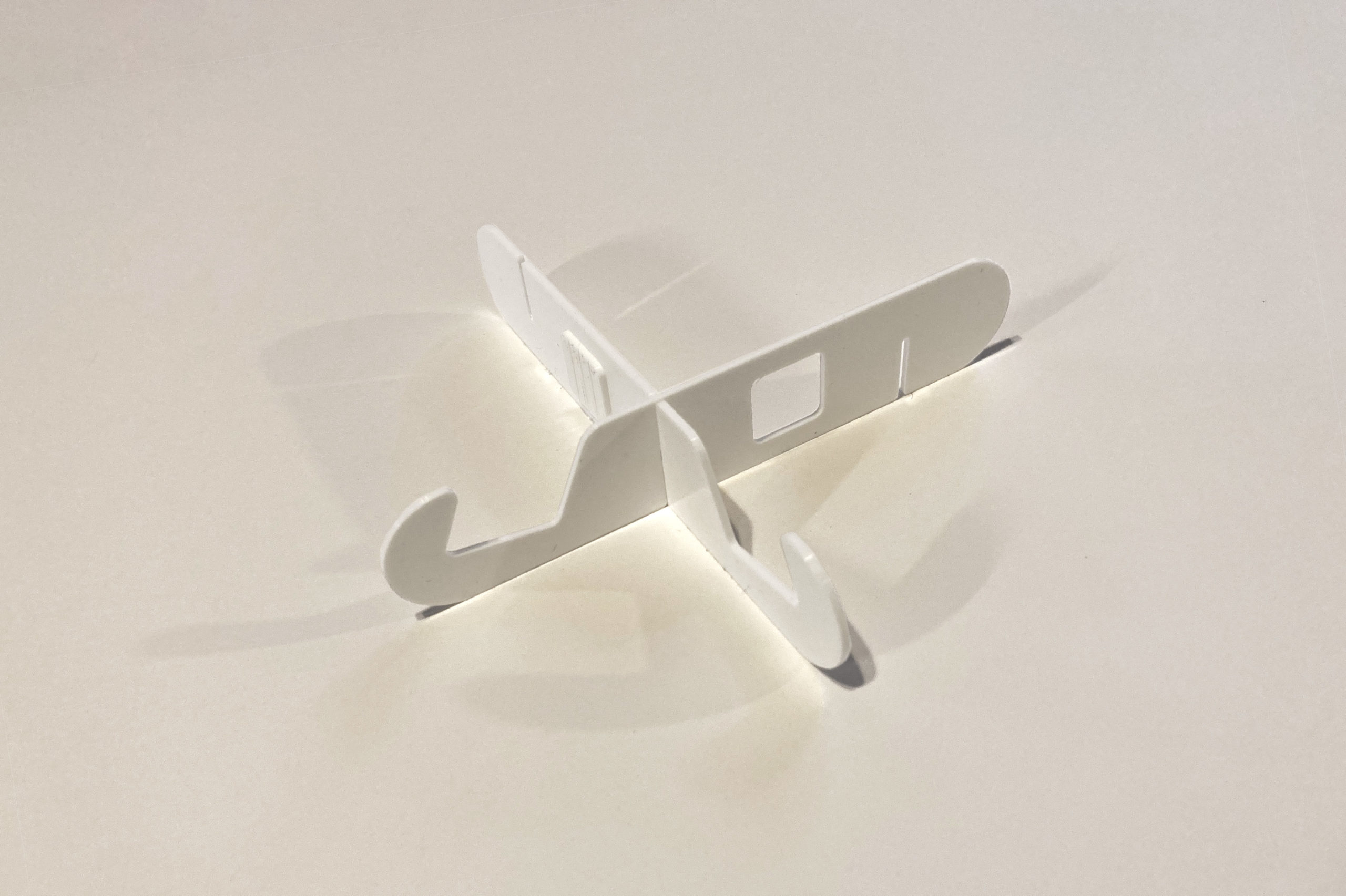 re:dock in white PLA plastic