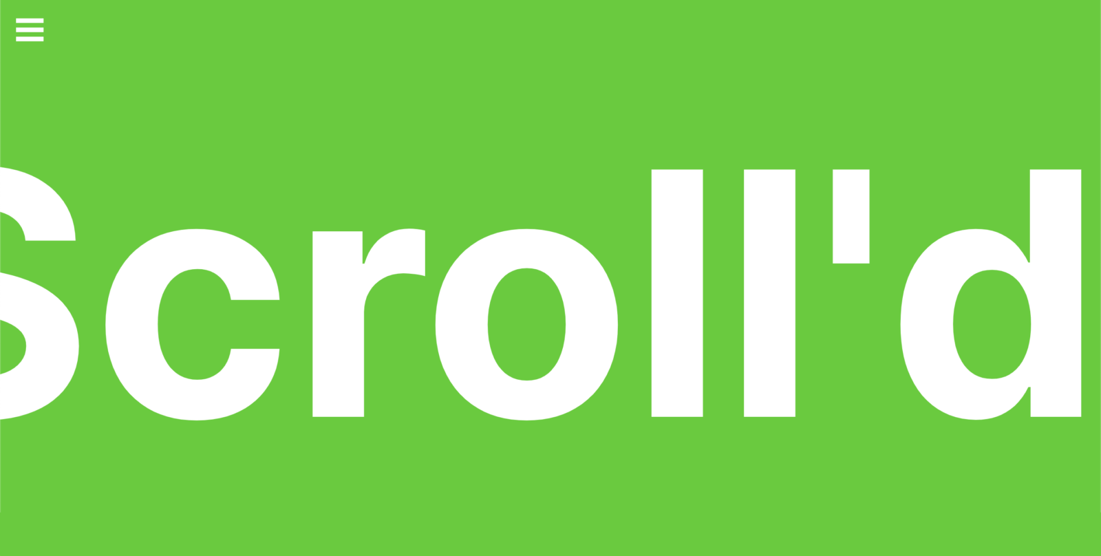 scrollr marquee white on color