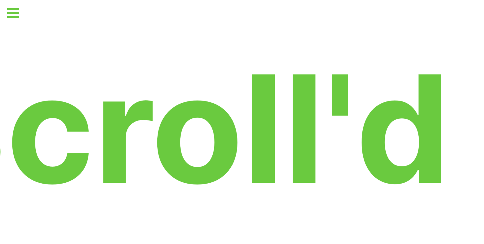 scrollr marquee color on white